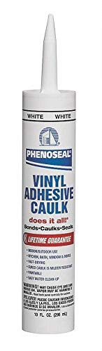 Dap 00005 6 Pack White Phenoseal Does It All Vinyl Adhesive Caulk 10-Ounce