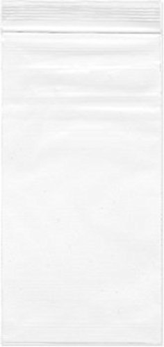 (2.4 Mil Thick Resealable Clear Zip Lock Bags 3 x 7 Inch (8X18cm) Pack of)