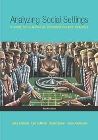 Analyzing Social Settings: A Guide To Qualitative Observation And Analysis 4Th Ed.