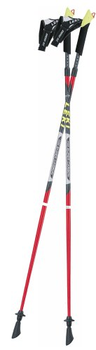 LEKI Nordic Walking Speed Pacer Vario T2 Poles (110cm), Outdoor Stuffs