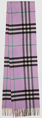 Burberry Cashmere Scarf - BURBERRY LONDON - 100% Cashmere Scarf Long Reversible Check Double-faced Cashmere Scarf Pale heather 80076251