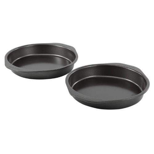 Baker's Secret 98339 2-Piece Twin Pack Round Cake Pan, (Two Cake)