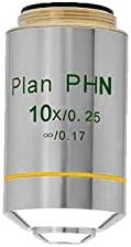 BoliOptics 10X Infinity-Corrected Achromatic Negative Phase Contrast Microscope Objective Lens Working Distance 5.03mm PH03023332 Plan PH N