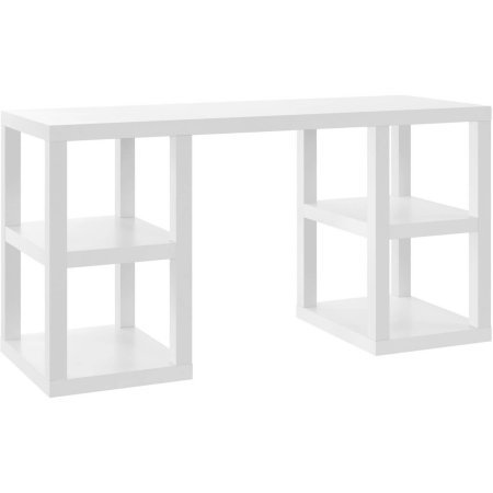 Ameriwood Home Parsons Deluxe Desk White (For Parsons Sale Tables)