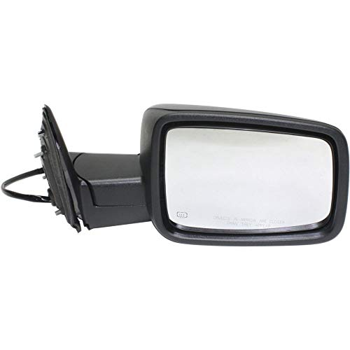 - Mirror for Ram 1500/2500 P/U 13-17 Right Side Power Heated Textured Black