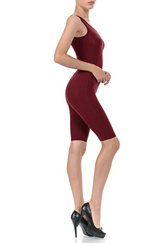 7Wins JJJ Women Catsuit Cotton Lycra Tank Bermuda Short Yoga Bodysuit Jumpsuit