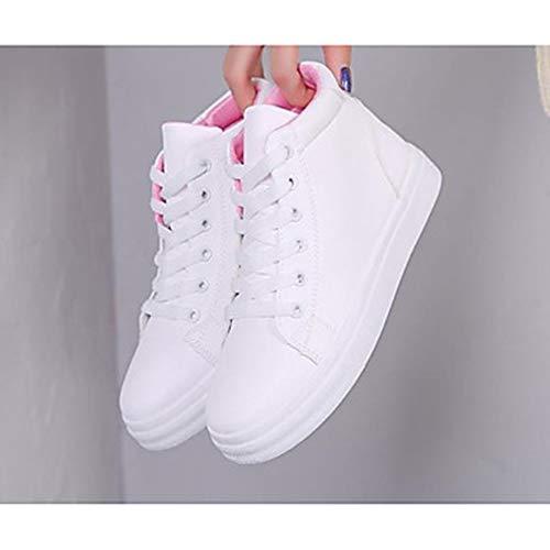 TTSHOES Bleu Talon EU38 Confort 5 Blanc CN38 Basket Plat Automne 5 Chaussures Polyuréthane UK5 Pink Rose Femme US7 rzY6wrq