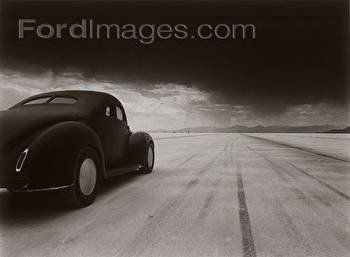 Arthouse 40 Coupe Salt Flat Racer Poster Wood Sign 9x12 (23cm x 31cm) Solid (Racer Coupe Flat Salt)