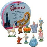 Disney Limited Edition Collectible Classic Cinderella Ceramic Figurine Set (Finely Hand Painted Ceramic)