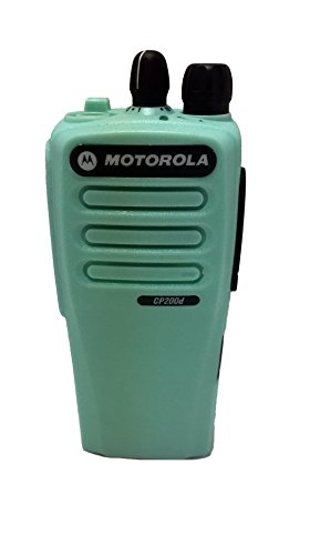 Turquoise Front Housing For Motorola Cp200d 16 Channel Two Way Radio Walkie Talkie Case Replacement Refurbish Refurb Kit With Buttons Channel Ptt Button Stickers
