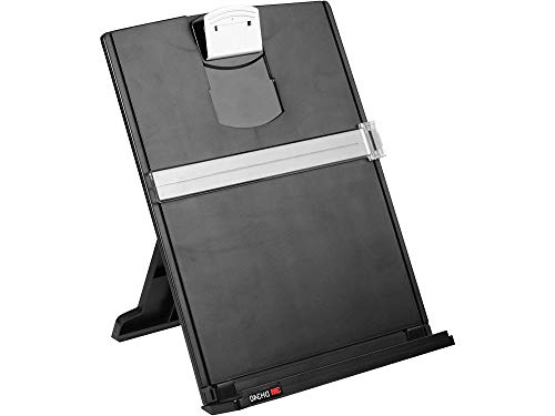 3M Desktop Document Holder with Adjustable Clip, Holds Letter, Legal and A4 Documents, Bottom Ledge Has Lip to Keep up to 150 Sheets Securely in Place, Folds Flat for Storage, - Klipboard Keeper