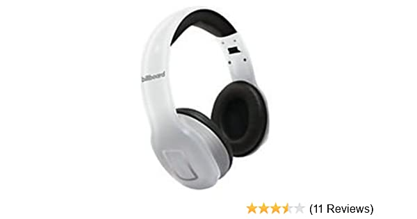 Amazon.com: Billboard Bluetooth Wireless Folding Headphones With Enhanced Bass, Controls, and Microphone White: Cell Phones & Accessories