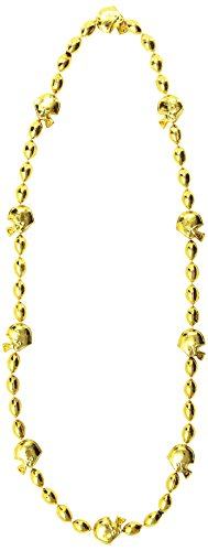(Football Beads (gold) Party Accessory  (1 count))