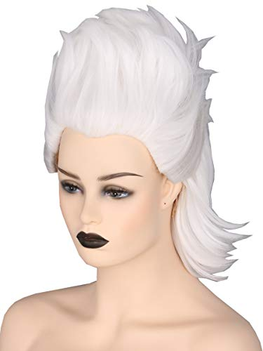 (Topcosplay Women or Girl Wig Short White Cosplay Halloween Costume Wigs Witch Ghost Wig)