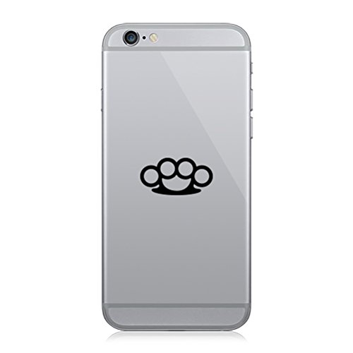 RDW Pair of Brass Knuckles Cell Phone Stickers Mobile - Matte Black