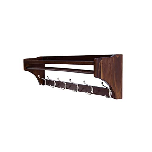 LIANGLIANG Coat Racks Coat Rack Wall Mounted , Multiple Hooks,Premium Pine Wood,Perfect Touch for Your Entryway, Mudroom, Kitchen, Bathroom and More (Color : 6 Hooks)