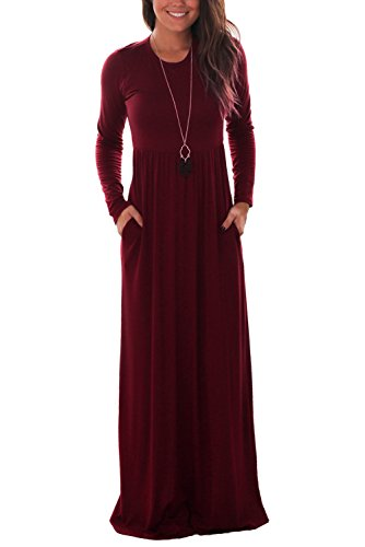full length long sleeve dress - 1