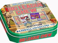 (Big League Chew Collector Tin with Bubble Gum)