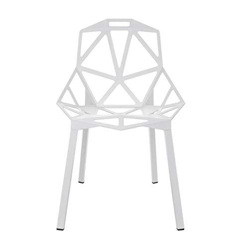 Magis Modern Chair - Luke Modern Aluminium Dining Chair - White