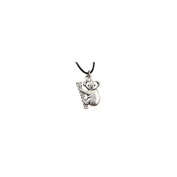 Fashion Tibetan Silver Pendant Sloth Bear Necklace Choker Charm Black Leather Chain -