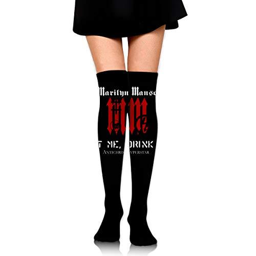 Gordon M Albers Marilyn Manson Unisex One Size Classic Over Knee High Socks 60cm Thigh High -