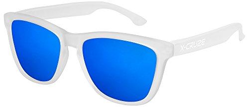 Unisex Hombre CRUZE® Gafas LW Dama Caballero Retro azul transparente Gafas mate 047 Nerd polarizadas de espejo Mujer tipo sol Vintage 9 estilo X 6Pdwq6