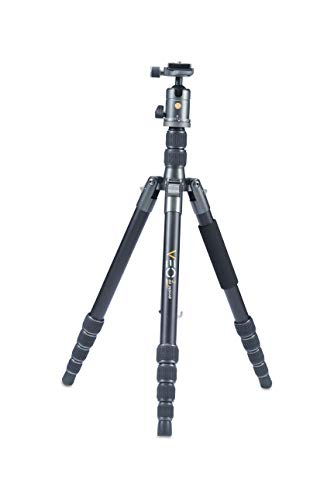 Vanguard VEO2GO265HAB Aluminum Travel Tripod with Ball Head for Sony, Nikon, Canon, Fujifilm Mirrorless, Compact System Camera (CSC), DSLR