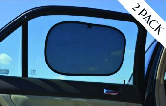 Blocks 97/% UV Rays 2 Pack Sun Shades for Cars - 21 X 14 Premium Baby Car Shade by Outback Shades- Easy Use Window Shades for Car Side Windows to Keep car Cool with Storage Pouch