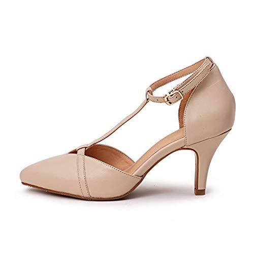 Cheville Slim La T Du En Chaussures Femmes Haut Chaussures Bride Sandales Talon 6Cm Simples Forme Hauteur À Talon Apricot Talons Habillées Loisirs V Pointé Hauts De Visage Boucle fwTTn7OqY