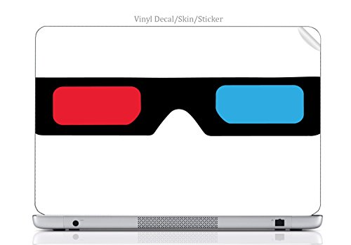 Laptop VINYL DECAL Sticker Skin Print 3D Glasses Red and Blue Lens fits VAIO NR - Sunglasses Nr