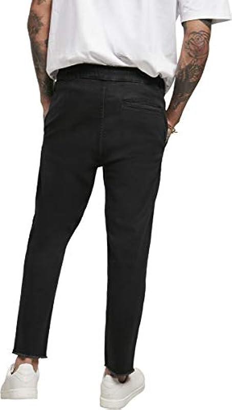 Urban Classics męskie dżinsy do biegania, klasyczne spodnie: Odzież