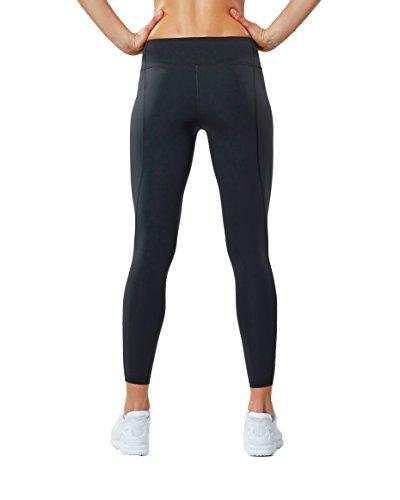 2XU Women's Fitness Compression Tights, Dark Charcoal/Silver, Medium/Tall by 2XU (Image #2)