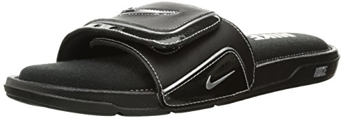Black Softball Slides (NIKE COMFORT SLIDE 2 MEN's Black/Metallic Silver/White - 11)
