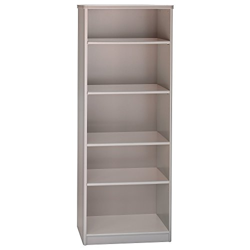 - Bush Business Furniture Series A Collection 26W 5 Shelf Bookcase in Pewter