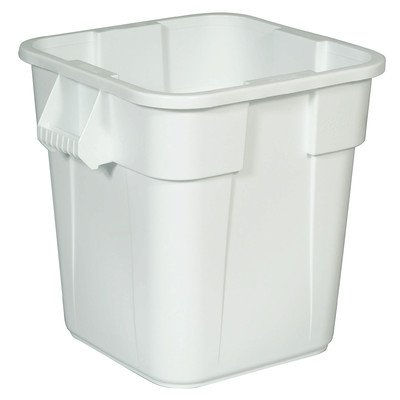 (Brute 28-Gal Square Container without Lid [Set of 6] Color: White)