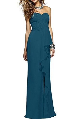 mia Lang Braut Abschlussballkleider Abendkleider Elegant Etuikleider La Blau Dunkel Partykleider Brautjungfernkleider Traegerlos Lilac dxaIZBwg