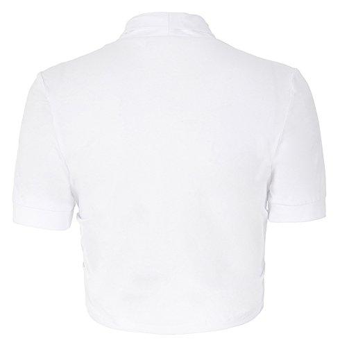 Bianco Cappa Maniche Coprispalle Donna Yafex Corte wZWqpXFnnf
