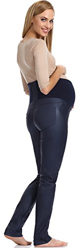 Be Mammy Pantalones de maternidad para mujer GX212 Azul Scuro