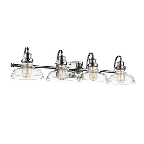 Millennium 2314-CH Transitional Four Light Vanity in Chrome, Pol. Nckl.Finish
