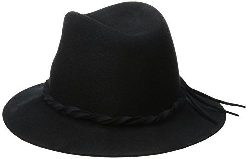 Betmar Women's Charlie Felted Fedora Hat, Black, Medium/Large by Betmar (Image #2)