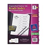Avery Ready Index Unpunched Narrow Tab Dividers, 8.5'' x 11'' (11164)