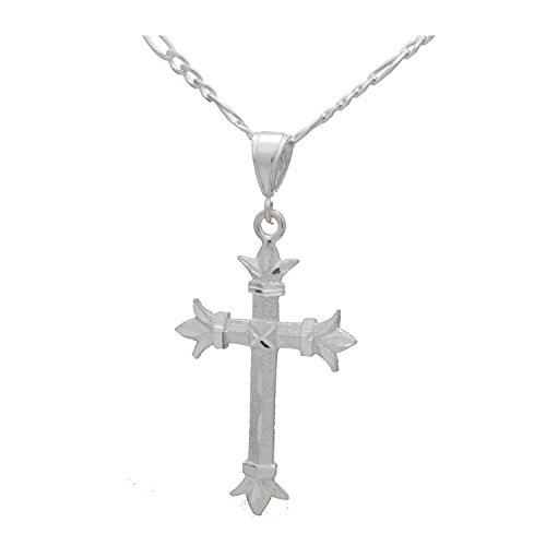 Sterling Silver 45mm DC Cross Pendant Necklace 24 inches Chain