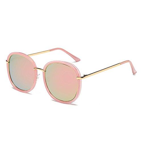 de Flor TL polarizadas Pink C4 Unidad de Mujer gafas Sunglasses Negro sol gafas Pink de espejo G410 gafas señoras Bastidor C9 UV sol tonos azul Cuadrado rr5vw7xnqp