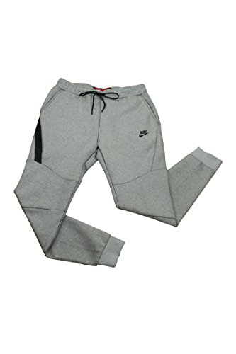 Nike Mens Sportswear Tech Fleece Jogger Sweatpants Light Bone/Black 805162-072 Size Large