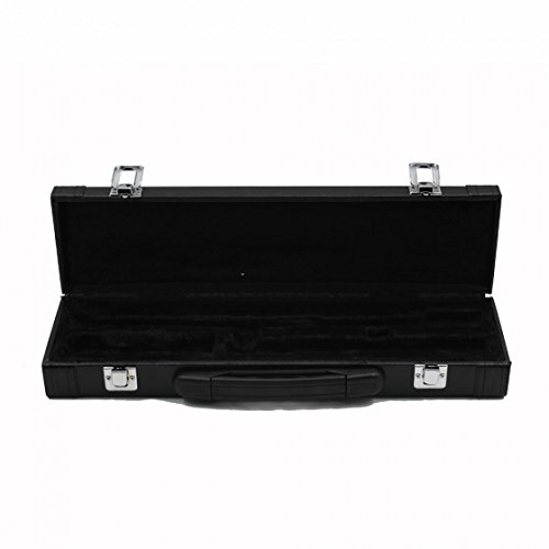 Andoer Portable Gig Bag Box Leather for Western Concert Flute with Buckle Foam Cotton Padded