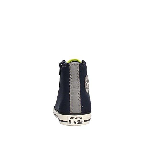 CONVERSE - Zapatilla azul y gris de cordones, de tejido y cuero, cremallera lateral, logo lateral, costuras decorativas y suela de caucho, Niño, Niños MULTICOLOR