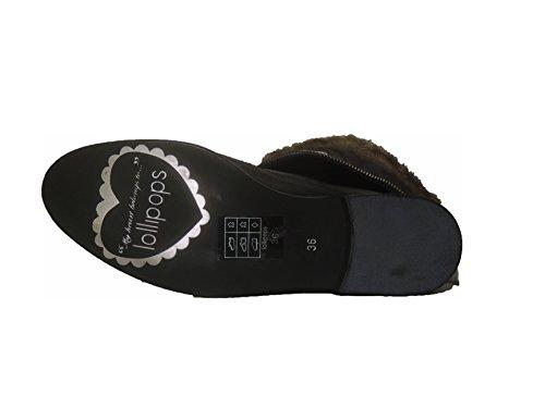 Mode Plates LOULICE Plates Fourrure Fermeture Insert Lollipops Chaussures BOTILLONS éclair Chaussures 38 gAOqfaX