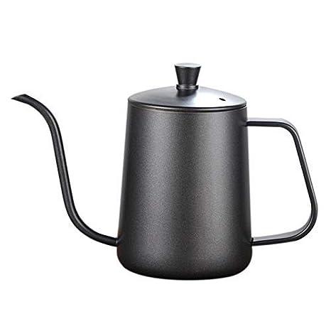 Amazon.com: Cazuelas de café gruesas de boca larga, de acero ...