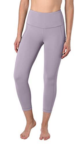 90 Degree By Reflex 22'' Yoga Capris - Yoga Leggings - Yoga Capris for Women - Iced Mauve - XS by 90 Degree By Reflex (Image #1)