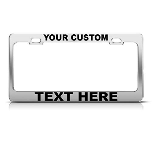 - Custom Personalized License Plate Frame Stainless Steel Metal Car Tag Holder